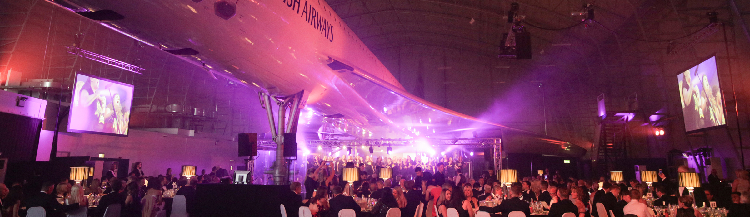 A dinner dance underneath the wings of Concorde