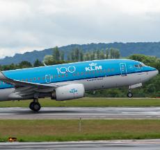 KLM 737 plane